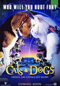 Бигль сыграл главную роль секретного агента Лу в семейной комедии «Кошки против Собак»